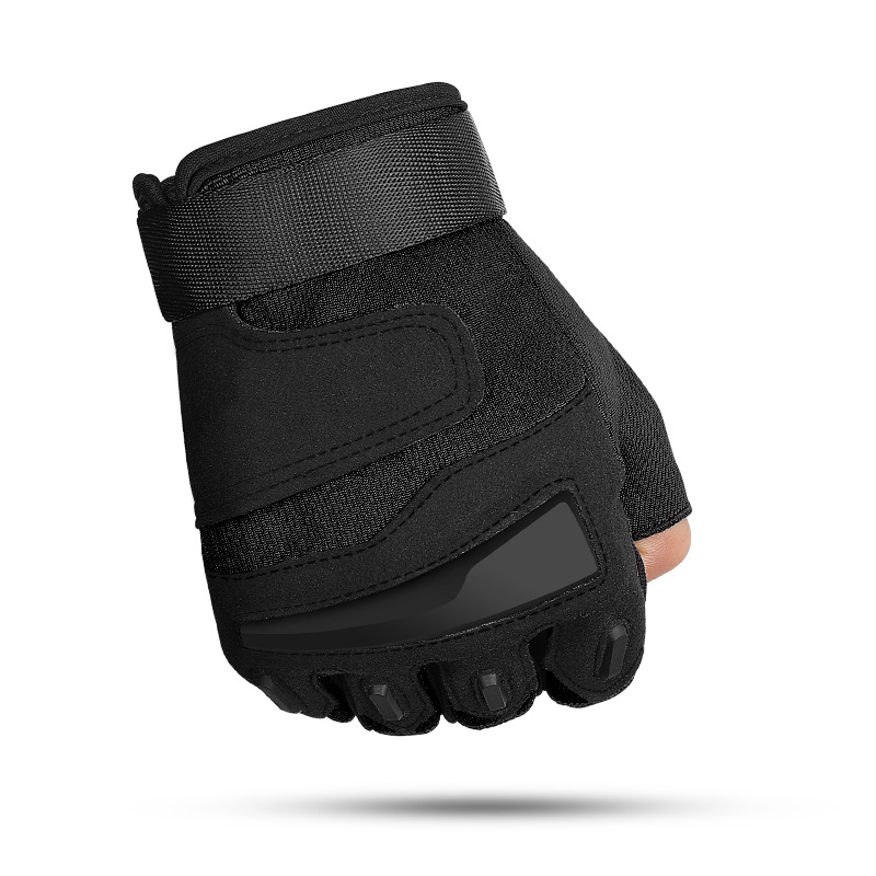 Spring And Summer Outdoor Riding Tactical Gloves Men's Half Finger Mountaineering Fitness Hard Shell Protective Cycling Gloves