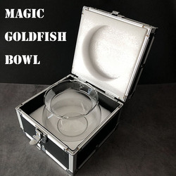 Magie poisson rouge bol tours de magie poisson apparaissent de vide bol Magia magicien scène gros plan Illusions accessoires accessoires mentalisme