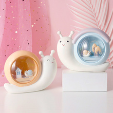 Cartoon LED snail lamp piggy bank night light desk lamp children's birthday Christmas gift home decorations christmas santa claus night light 3d visual acrylic led desk lamp led christmas decorations for home lights kids new year gift