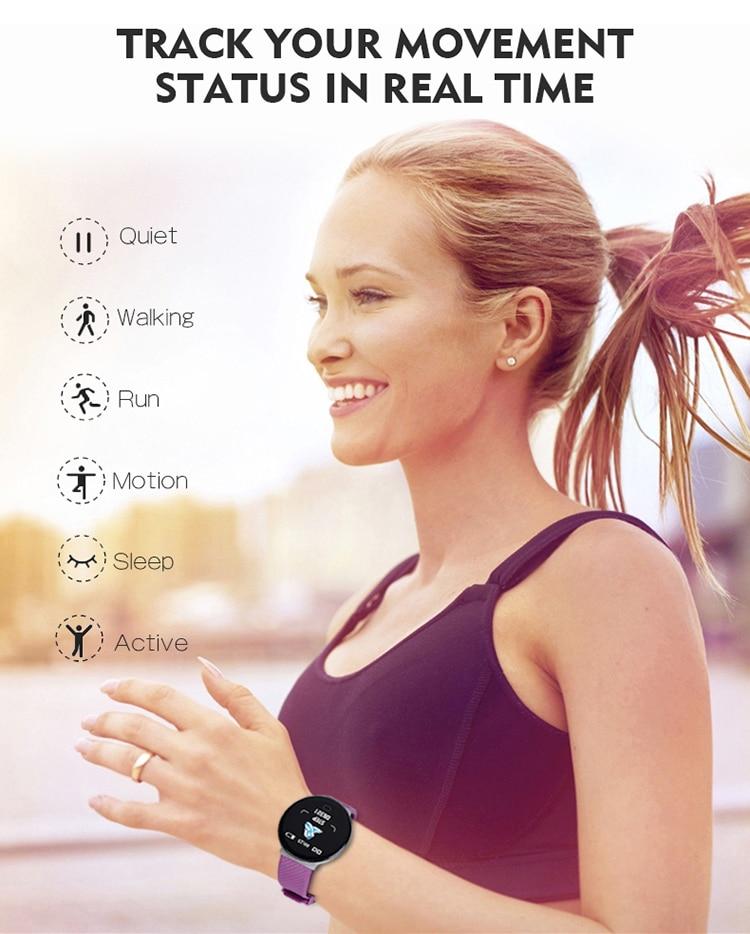 DOOLNNG D18 pro Smart Watch Heart Rate Blood Pressure Health SmartWatch Bluetooth Watch Wristband Fitness Tracker