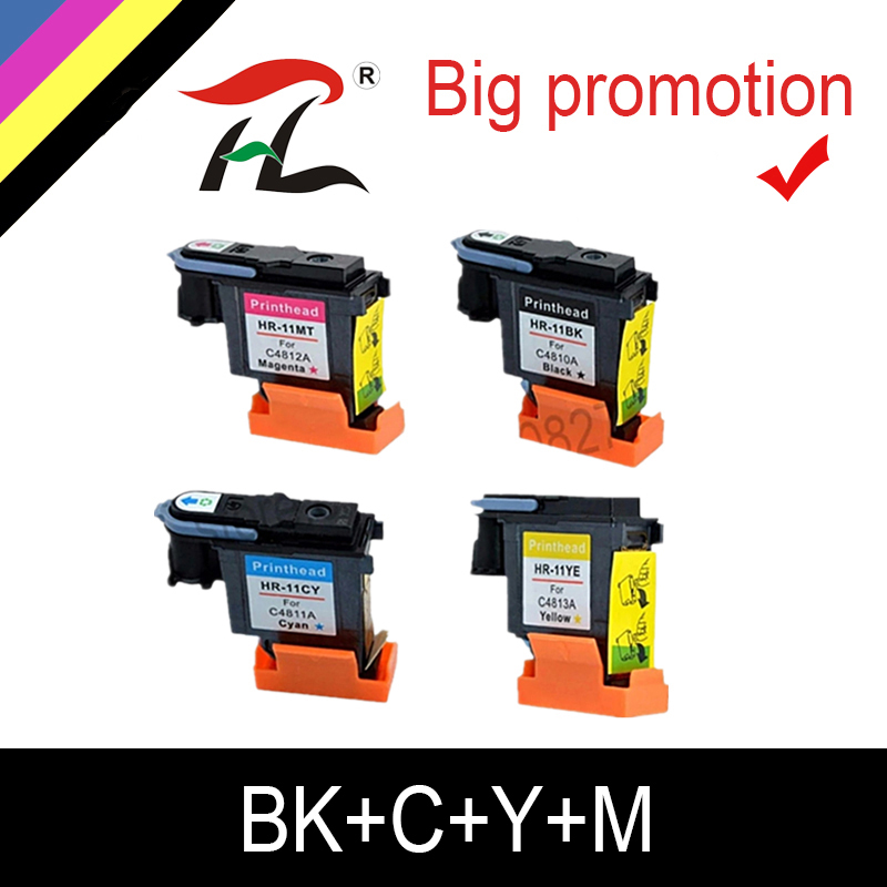 HTL 1 set For <font><b>hp</b></font> 11 Print head compatible for hp11 <font><b>printhead</b></font> Designjet 70 100 110 500 <font><b>510</b></font> 500PS C4810A C4811A C4812A C4813A image