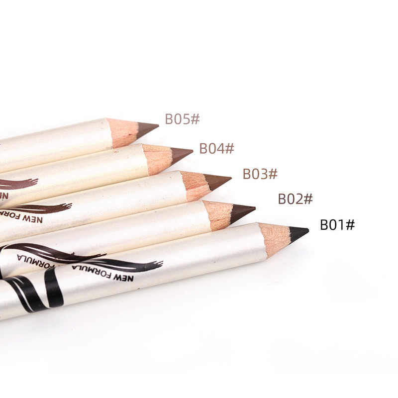 Menow om marcador de sobrancelha à prova d' água, tatuagem de sobrancelhas com 4 cores, caneta de tintura potencializadora de longa duração