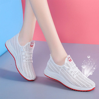 Women Vulcanized Summer Running Shoes For Female Slip On Sneakers Mesh Breathable Sports Shoes Women's Athletic Footwear