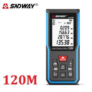 Image 3 - Sndway medidor de distância a laser faixa medida 120m 100m 80 70m 60 50m 40m laser roleta telêmetro caça localizador régua