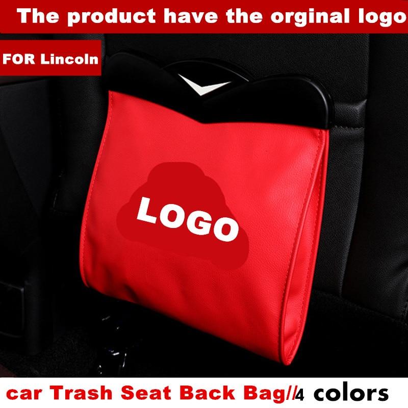 Led Dual-verwenden Lagerung Tasche Auto Fahrzeug Papierkorb Mülleimer Bin Für Lincoln LOGO MKC/MKT/MKX/MKZ