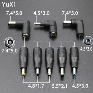 YuXi DC 7,4x5,0 мм гнездовой до 7,4 5,0 мм 4,5x3,0 4,8x1,7 мм 5,5x2,1 Штекерный разъем 4,5x3,0 до 5,5x2,1 конвертер для адаптера питания ноутбука