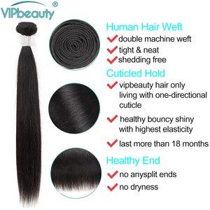 Image 3 - VIP الجمال الماليزي مستقيم الشعر 4 حزم 100% نسج على شكل شعر إنسان شعر ريمي التمديد الطبيعية أسود اللون لحمة شعر