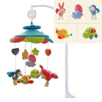 Baby Music Rattle Bed Bell Toy Sky Plush Toy Can Be Trailer Car Bed Hanging Puzzle Fun Pendant Decoration Built in Rattle BB