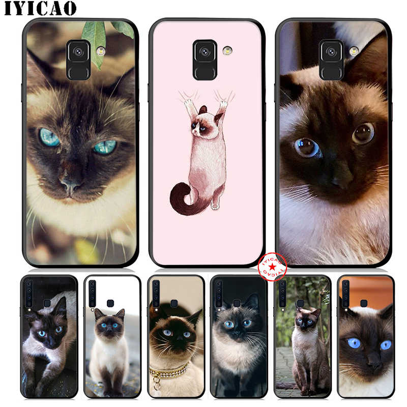 IYICAO Cute Siamese Cat Soft Phone Case for Samsung Galaxy A50 A70 A60 A40 A30 A20 A10 M40 M30 M20 M10 Cover Silicone