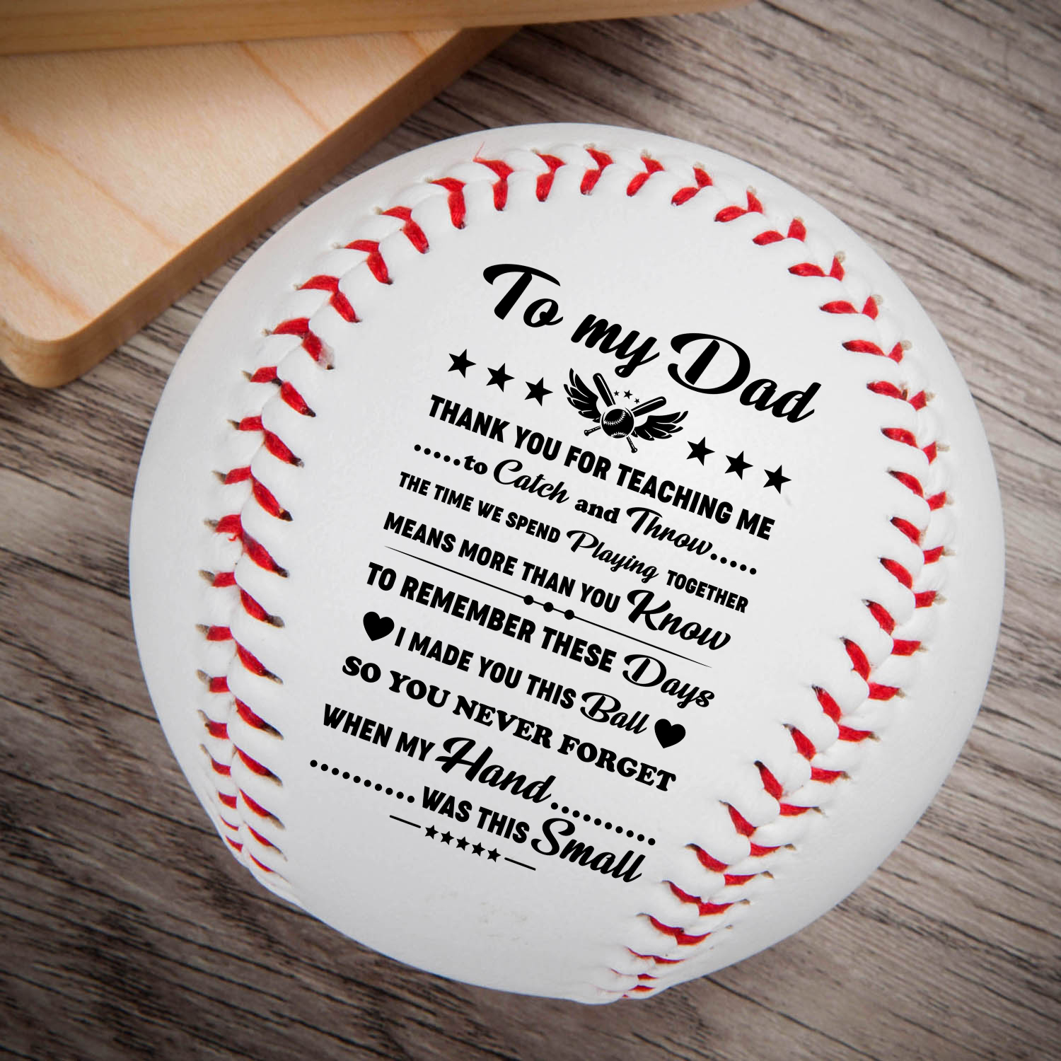 To My Dad – Thank You For Everything printed Content Baseball Ball Birthday Christmas Gift.