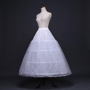 Image 3 - 2020 Braut Zubehör Hochzeit Petticoat Unterrock 4 Hoops Krinoline Petticoats für Ballkleid Hochzeit Kleider Jupon Günstige