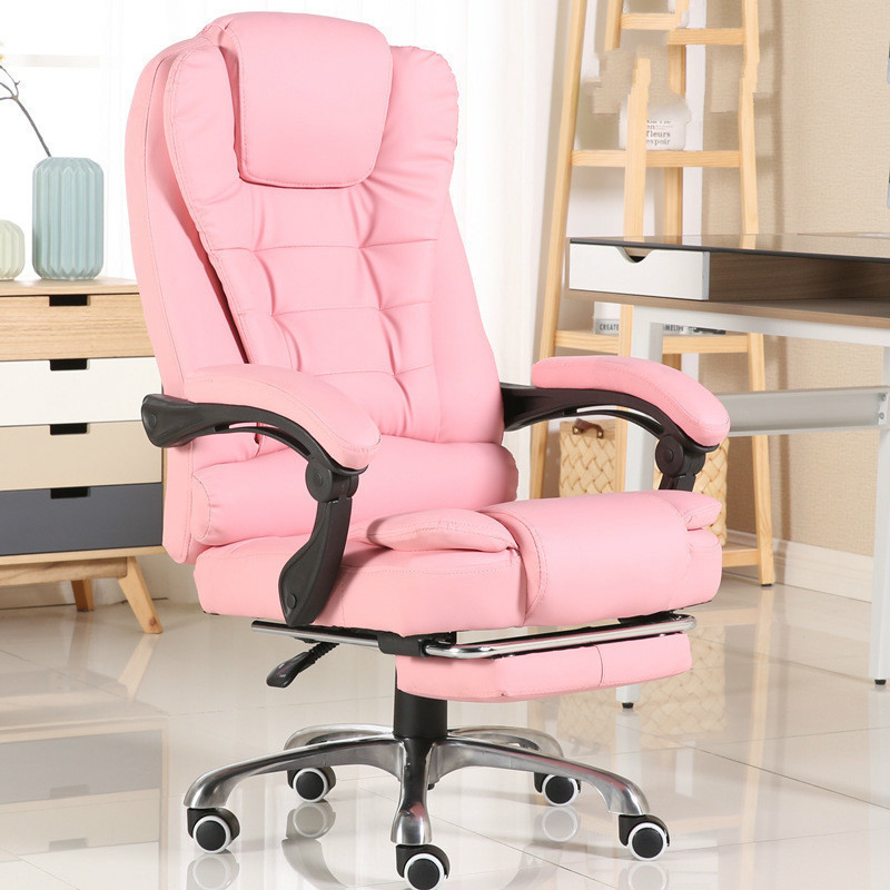 Motor-driven Massage Gaming Work Genuine Leather Chair Executive Luxury Office Furniture Lift Computer Footrest-for-office Chair