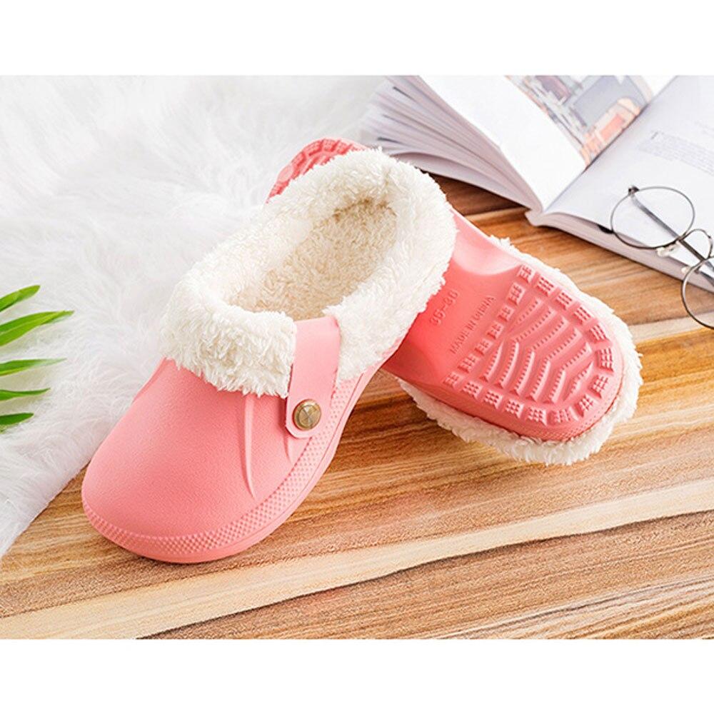 H2f439889d64e4252b98cf2f863ff2accp Pantufa chinelos masculinos de couro, de alta qualidade, de pu, para inverno, de pelúcia, curto, salto plano, quente, para área interna