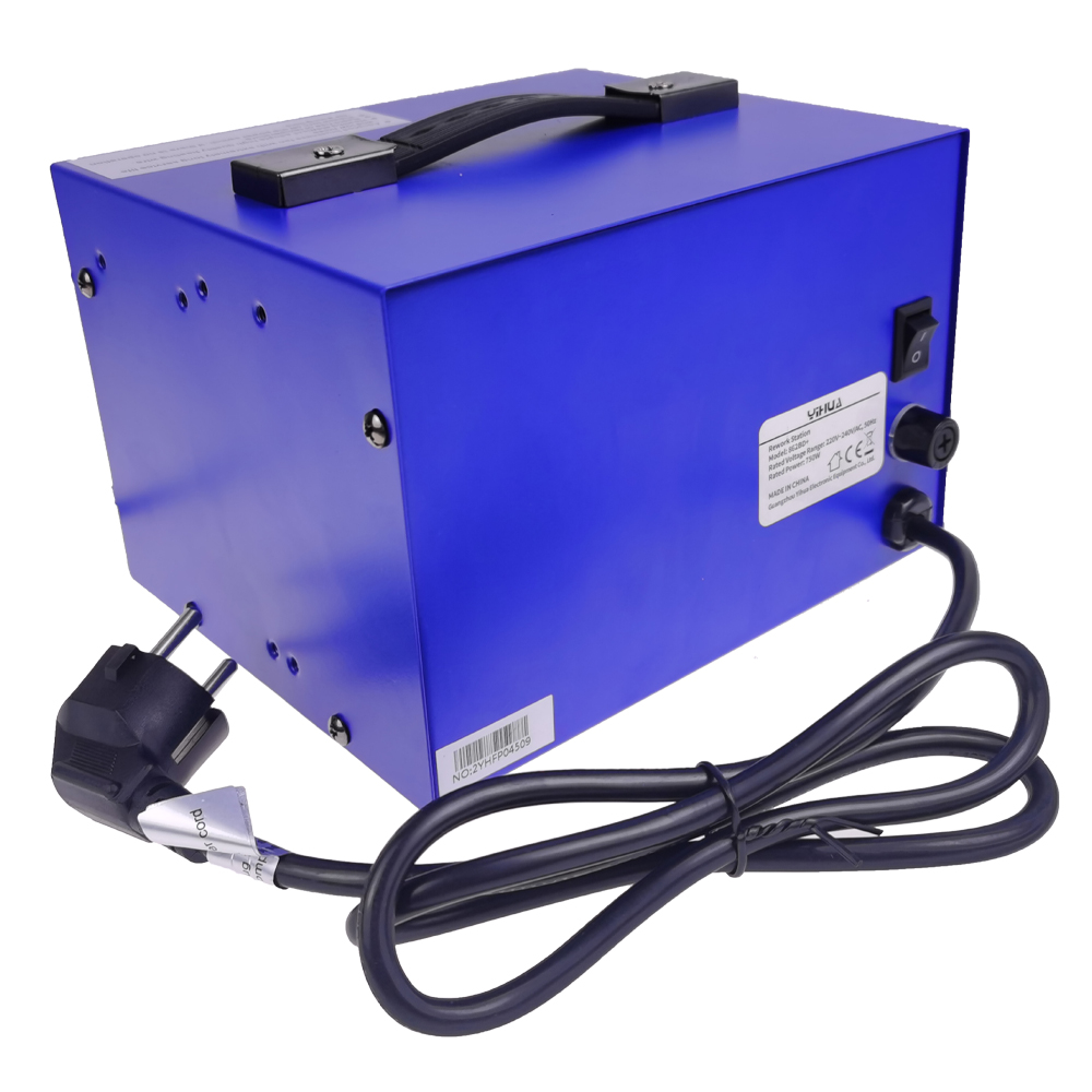 high-power disassembly welding table YIHUA862BD+ two-in-one digital display anti-static air gun table hot air welding table