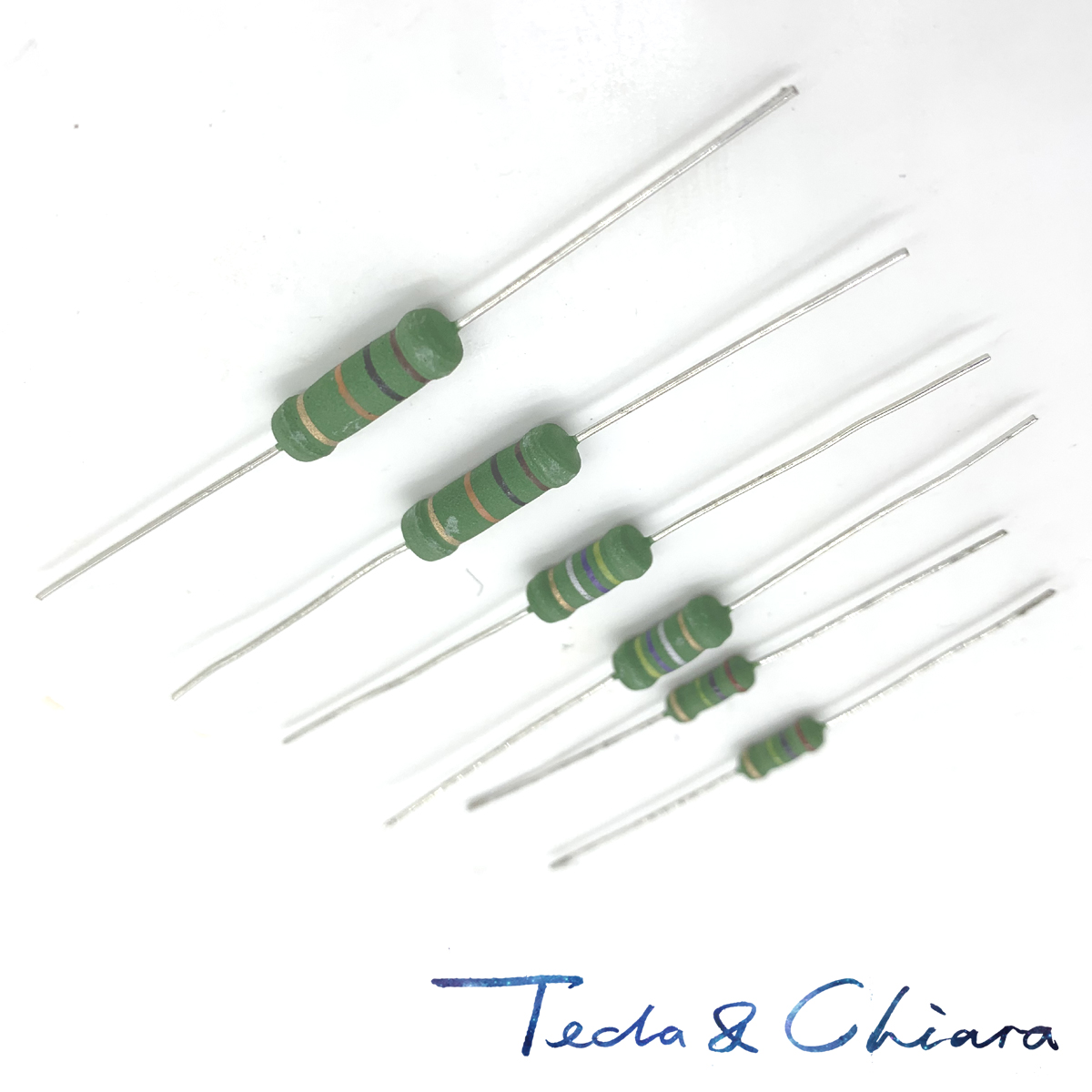 2 watt 5/% metal oxide power resistors 8.2 ohm 5 pack