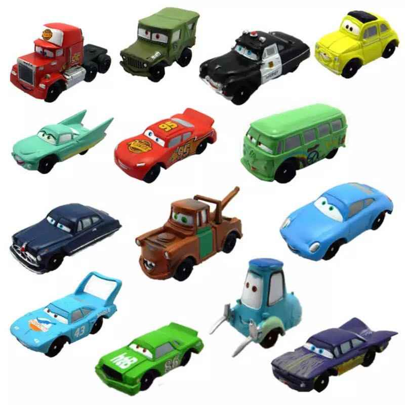 14 adet/takım 4-5cm Disney Pixar Arabalar 3 Diecasts Oyuncak Araçlar Kral Yıldırım McQueen Flo Fillmore Mini araba Modeli çocuk oyuncağı hediye
