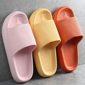 Thick Platform Slippers Women Indoor Bathroom Slipper Soft EVA Anti-slip Lovers Home Floor Slides Ladies Summer Shoes Dropship