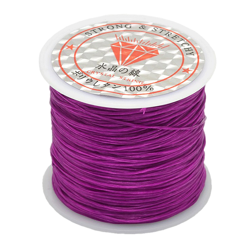 0.5mm Elastic Cord, 50m/roll Beading Cord Stretchy String for Bracelets, Necklace, Jewelry Making and Crafts