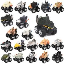 Kids Mini Pull Back Car Toys Leopard Bear Tiger Animal Pull Back Car Preschool Learning Kids Toy Gift kids collectible cute animal model dinosaur panda vehicle mini elephant bear toy truck tiger pull back car boy toys for children