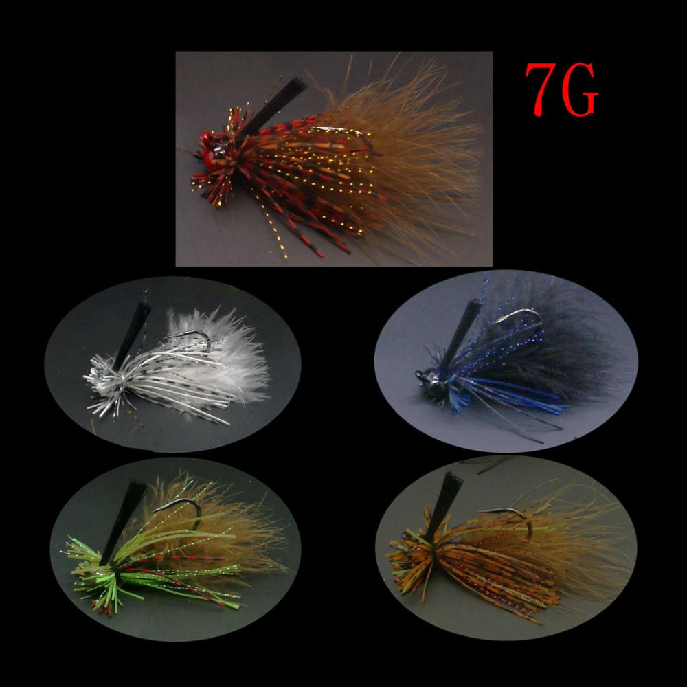 Mycena 7G spinnerbait Weedless crankbait  fishing lure chatterbait Rubber Jig Hook with Silicone Skirt for Trout Perch Bass-1