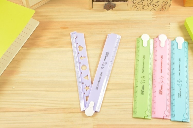 30cm Cute Kawaii Candy Folding Plastic Ruler For Kids Student Creative Product Gift Office School Supplie   JHP-Best