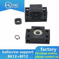 High-quality BK12 BF12 ballscrew support match use SFU1604 SFU1610 SFU1605 ball screw end support cnc part 1set BKBF12 BK12BF12
