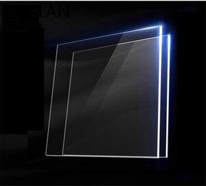 2 uds., placa acrílica de plástico transparente de plexiglás grande y cuadrada, tablero de acrílico de vidrio orgánico, metacrilato de polimetilo, espesor de 1mm