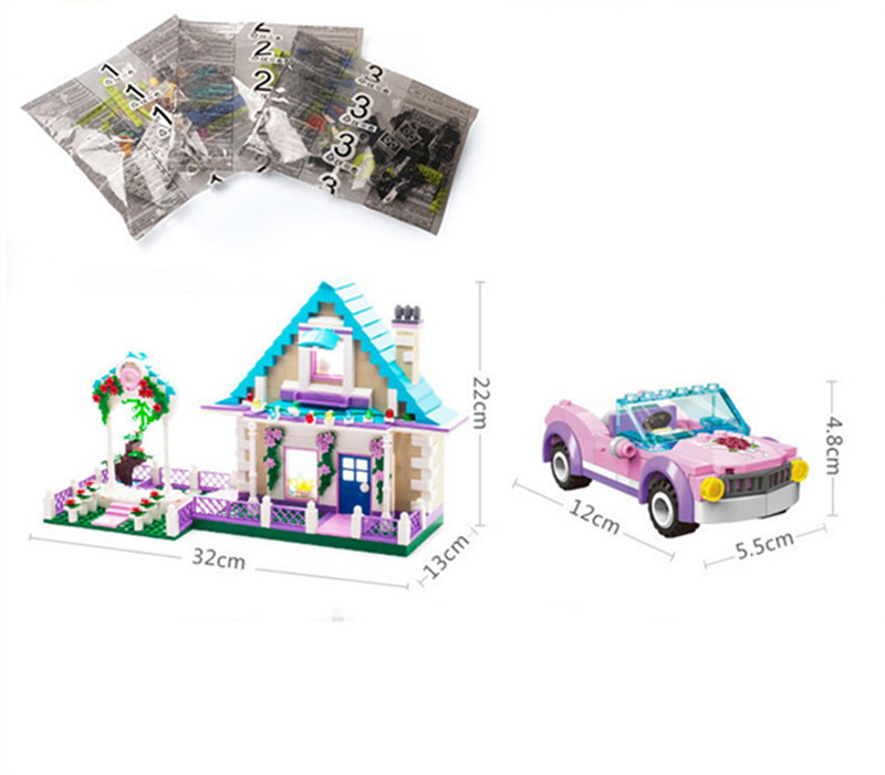 New 1129 Marriage Room Wedding Bridegroom Princess Castle Fit House City Figures Blocks Bricks Playmobil Toy Girls Gift Kid in Blocks from Toys Hobbies