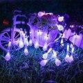 Солнечные 30 светодиодов капли воды свет струны сад водонепроницаемый Рождественский декоративный светильник для вечеринок открытый Крыты...