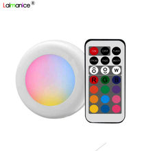 Wireless Multicolor Dimmable RGB Cabinet Light Remote Control Touch Sensor Closet Led For Wall Wardrobe Stair Hallway Night lamp(China)