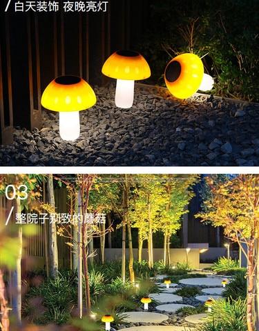 com cogumelo deu forma luzes da decoracao do jardim casamento