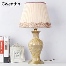 Ceramic Table Lamps for Living Room Bedside Europe Home Decor Modern Led Lighting Fixtures Desk Light Luminarias Nightstand Lamp