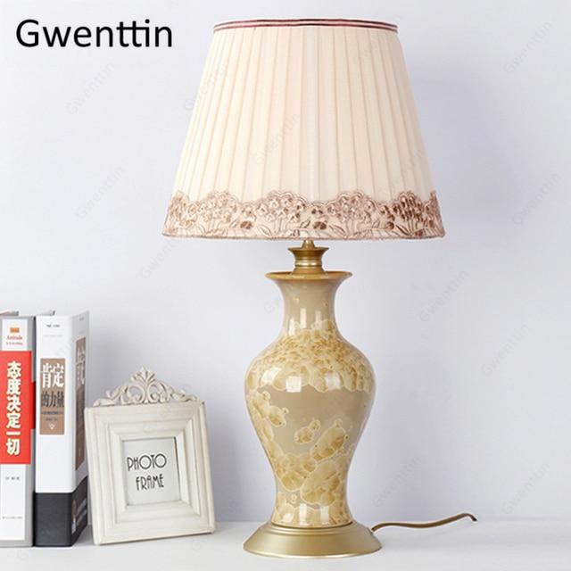 Lâmpadas de mesa cerâmica para sala estar cabeceira europa decoração da sua casa moderna led luminárias mesa luz luminarias nightstand lâmpada