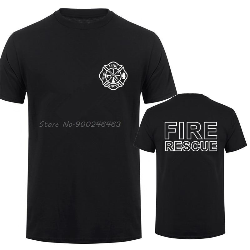 Пожарно-спасательный пожарный футболка для мужчин пожарный футболки мужские хлопковые футболки Топы Harajuku уличная одежда