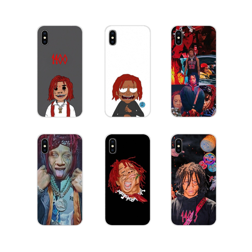 Transparent Soft Skin Case For Samsung Galaxy J1 J2 J3 J4 J5 J6 J7 J8 Plus 2018 Prime 2015 2016 2017 Hip hop artist Trippie Redd image