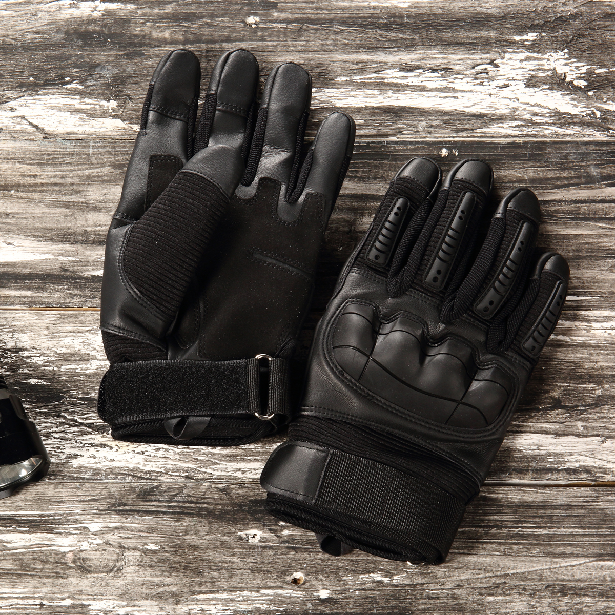 Image 2 - Touch Screen Leather Motorcycle Gloves Motocross Tactical Gear Moto Motorbike Biker Racing Hard Knuckle Full Finger Glove Mens-in Gloves from Automobiles & Motorcycles