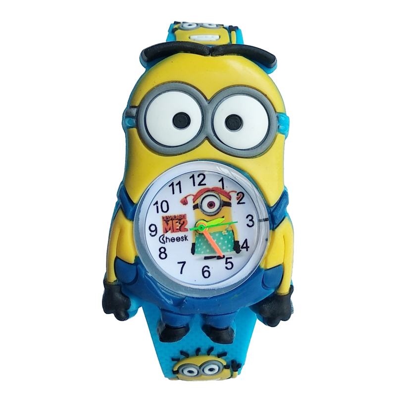 2019 New Despicable Me Little Yellow Man Watch Children Kids Silicone Quartz Wristwatches Fashion Boy Girl Student Clock Gifts