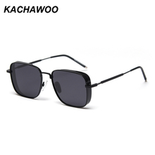 Kachawoo mens shield sunglasses polarized mirror silver squa