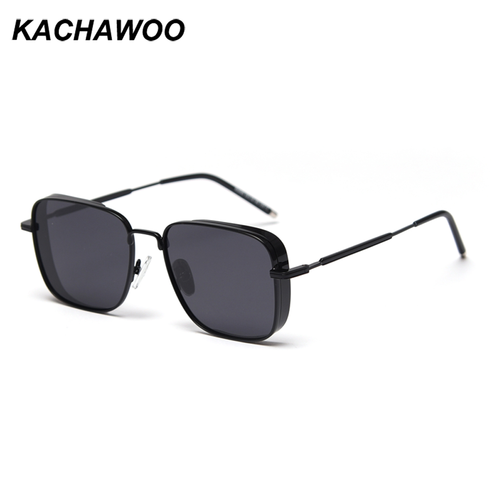 Kachawoo Mens Shield Sunglasses Polarized Mirror Silver Square Sun Glasses For Women Metal High Quality Red Windproof Shade