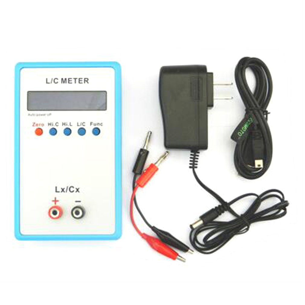 Digital LCD Capacitance LC Meter LC200A Inductive Inductance Tester Inductor Capacitor Table 1pF-100mF 1uH-100H With Adapter