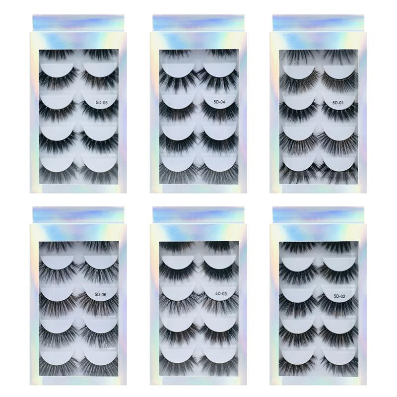 5 Pairs Magnetic Eyelashes False Eyelashes Magnet Lashes Artificial Natural Long Individual Cluster Eyelashes Natrual Makeup