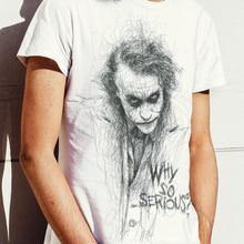 Male Tshirt Short-Sleeve Joker Clown 3d-Printed White Casual Summer Topsxxs-6xl Face