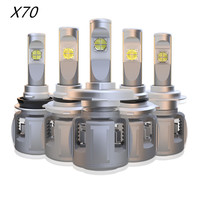 2pcs/lot X70 H4 H7 Car LED Headlight Bulb H11 9005 9006 HB4 H8 D1S D2S H1 D4S Upgrade Lens 6000K 15600LM Headlamp Fog Light