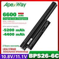 10,8 v batería del ordenador portátil para SONY BPS26 BPL26 VGP-BPL26 VGP-BPS26 VGP-BPS26A para VAIO SVE14115 SVE14116 SVE15111 SVE14111 SVE141100C