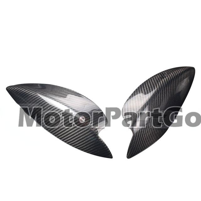 Real Crabon Fiber Head light Eyelid Eyebrow Cover Trim 1pair for  Subaru Impreza 7th 2000-2003 T216 2