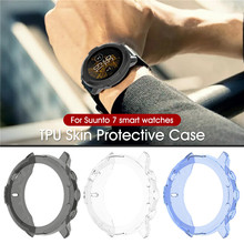 מקרה עבור SUUNTO 7 שעון כיסוי Tpu ציפוי מסך מגן מקרה חכם שעון Electroplated מצופה מגן