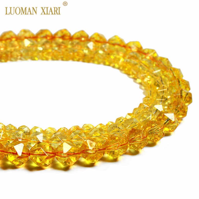 Citrine 8 /'/' Faceted Fancy Cut Shape 100 /% Natural Gemstone Beads Necklace 62 Ct 8 To 10 MM Gemstone Beads Necklace