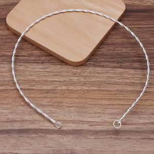 10 pçs fio torcido ajustável headpiece tiaras colar de metal colar gargantilha conectores diy moda cabeça casamento estilo cabelo