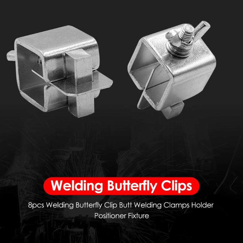 8pcs Stainless Steel Butterfly Valve Welding Clamps Holder Positioner Fixture Weld Holders Tool Alignment Positioner