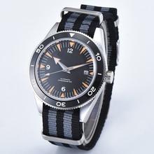 Corgeut 41mm Sterile dial luxury Sapphire Crystal Black Ceramic Bezel auto date Automatic Men's
